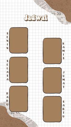 #template #jadwal Grid Wallpaper, Book Wallpaper, Galaxy Wallpaper, Schedule Design, Study Schedule, Foto Frame, Instagram Frame Template, Birthday Collage, School Timetable