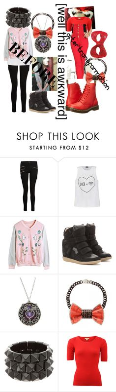 """Marceline A.K.A. Red Fox - Miraculous Ladybug OC"" by marclinependragon ❤ liked on Polyvore featuring J Brand, Ally Fashion, WithChic, Isabel Marant, INDIE HAIR, Michael Kors and Dr. Martens"