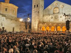 The Spoleto Festival takes place in Spoleto, Umbria,  for three weeks in June with the best of dance, music, art and drama all performed by world renowned artists.