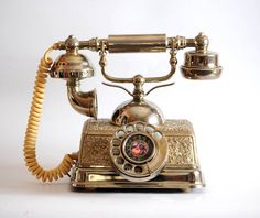 Vintage French Romance Rotary Dial Telephone  Ornate by junksy, $41.00 - Sold but I LOVE it!!