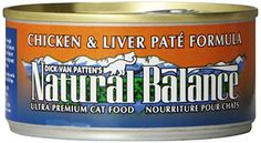 Save $5.08 on Natural Balance Canned Cat Food, Chicken and Liver Pate Recipe, 24 x 6 Ounce Pack; only $27.91
