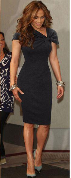 a99e21df61 Slim V-neck Short Sleeve Knee Length Dress. Elegant OutfitClassy  DressDresses ...