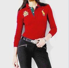 7b37be5ecc518 cheap ralph lauren polo Mancher Longues Polo Femme rouge vif http   www.