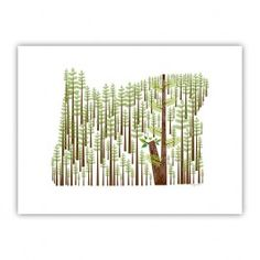 Oregon Wood Print $35.20
