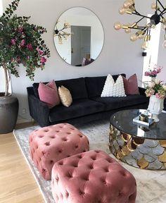 Cozy Living Room For Your Home - Living Room Design Living Room Decor Cozy, Home Living Room, Living Room Designs, Bedroom Decor, Black Sofa Living Room, Dark Couch, Gray Sofa, Living Room Inspiration, Interior Inspiration