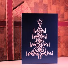 Laser Cut Christmas Card Available on Etsy