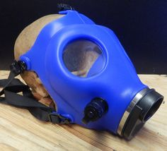 BLUE GAS MASK - Brand New Full Face Israeli Style Survival Gas Mask-A Burning Man Playa Black Rock City Must Have by jadedminx on Etsy