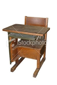 antique school desks | Antique school desk Royalty Free Stock Photo