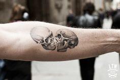 Skulls tattoo by Jon Pall