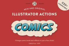 Vintage Comic Press - AI Actions by Greta Ivy on @creativemarket