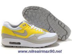 separation shoes b170e be093 Discounts Nike Air Max 1 Holland White Neutral Grey Vibrant Yellow Mens  308866-102 Nike