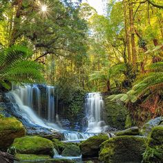 Horseshoe Falls by Beautiful Places In The World, Great Places, Australia Travel, Continents, Rivers, Serenity, Natural Beauty, Waterfall, National Parks