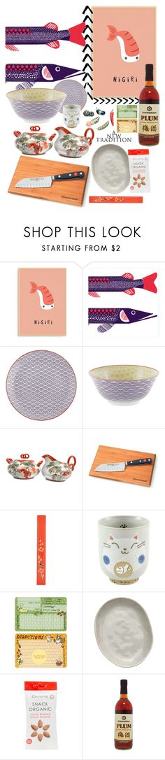 """""""Color Challenge- Coral & Purple No.2"""" by earthangell ❤ liked on Polyvore featuring interior, interiors, interior design, home, home decor, interior decorating, Marimekko, Tokyo Design Studio, Ÿù and Wüsthof"""