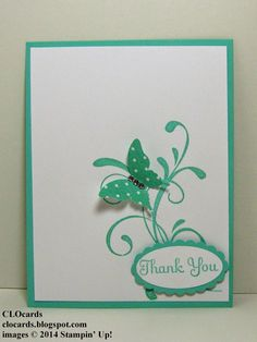 Swap card created by Cathy Seal.  Everything Eleanor, Elegant Butterfly Punch.  More info on #CLOcards blog.