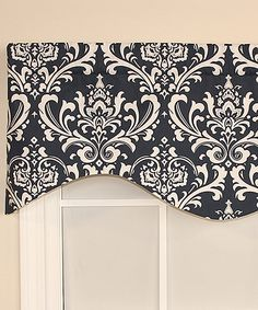 Look what I found on #zulily! RLF Home Navy Regal Medallion Cornice Valance by RLF Home #zulilyfinds