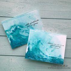#laurelbeard #simplycardmaking @thetonstamps #handmadecards #layeredstamping #watercoloring #distressinks #video #youtube #gesso #texture #foiling #transfergel #decofoil #layeredwaves