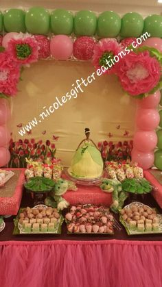 Princess Tiana birthday party / balloon wall
