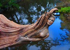 Artista usa árvores argila e conchas para criar belas esculturas