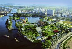 Zhongshan Shipyard Park, Today Panoramic view - Guangdong, Cina
