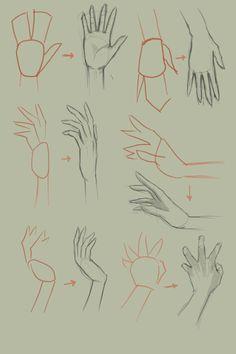 Como desenhar mãos
