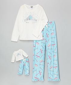Love this Turquoise Crown Pajama Set & Doll Outfit - Girls by Dollie & Me on #zulily! #zulilyfinds
