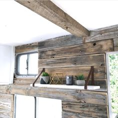 If white paint, various wood tones, and lots of texture is your thing, you'll love these rustic camper remodels! Photo Source: Den for our Cubs