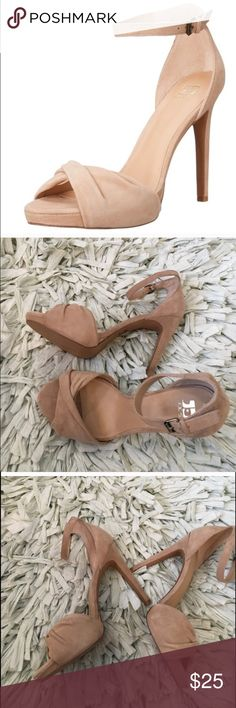 Joes Vaughn heel Nude suede, worn once, like almost new no flaws. WOMENS size 8.5 OPEN TO ALL OFFERS AND WILLING TO NEGOTIATE!! Joe's Shoes Heels