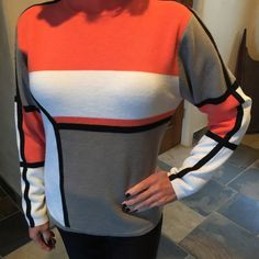 Obermeyer Ski Sweater Color block ski sweater. Crew neck and long sleeved for comfortable movement on the slopes, or just to wear on cold winter days. Excellent condition. Obermeyer Sweaters Crew & Scoop Necks