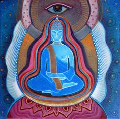 Buddha by Vera Kereszteny (oil on canvas, 30 x 30 cm) #buddha #meditation #yoga #spiritual #art #oil #painting