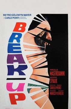 Vintage Movie Poster: Break-Up (1965) ( Classic MGM / Cinema / Cine / Film Poster / Graphic Design / Retro Design / Poster Art )