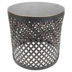 Accent Table Round Cutout Metal/Black - Threshold™