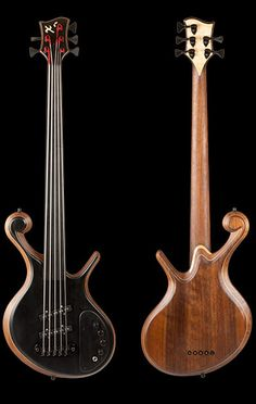 The Zio. Fretless 5 string bass guitar with ebony top, front and back. http://www.xylembassguitar.com/custom-bass-zio-specs.html