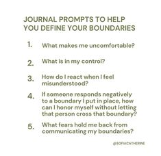 Daily Journal Prompts, Writing Therapy, Therapy Journal, Mental And Emotional Health, Self Care Activities, Self Improvement Tips, Motivation, Note To Self, Self Development