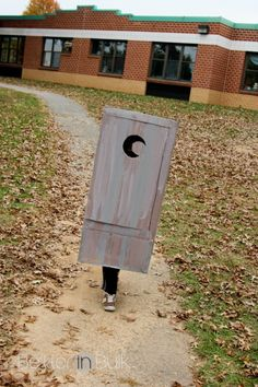 My Son Was An Outhouse For Halloween {psf - Give Me Your Best Shot}