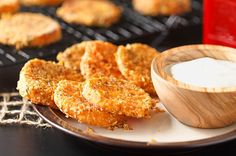 A wonderful balance of sweet, herbal, & savory. With a crispy outside and creamy center, these .. with a crust of parmesan and thyme .. are simply amazing