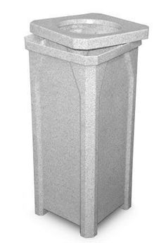 20 Gallon Kolor Can Indoor Outdoor Square Trash Container S7901A-00 (11 Colors) - outdoor & indoor trash cans, recycle bins, & ashtrays for commercial, office or home.