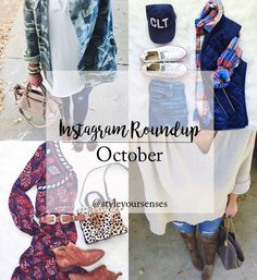 A full Instagram Roundup of all of October's best outfits, and pieces that I'm loving