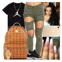 """""""Untitled #1320"""" by msixo ❤ liked on Polyvore featuring MCM, NIKE and Rolex"""