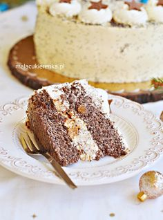 Tort Makowy z Wiśniami i Likierem Polish Desserts, Cookie Desserts, Sweets Cake, Cake Cookies, Tiramisu, Tea Party, French Toast, Food And Drink, Cooking Recipes