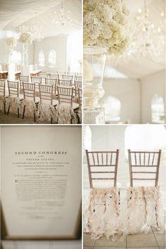 neutral wedding colors elegant reception inspiration hydrangeas chandeliers