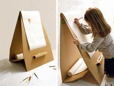 caballete para pintar de cartón