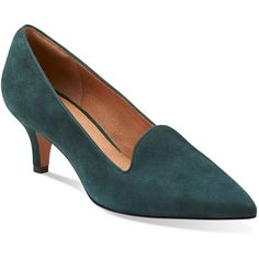 46613e0b4ba Clarks Sage Elfin Kitten Heel Pumps ( 38) ❤ liked on Polyvore featuring  shoes