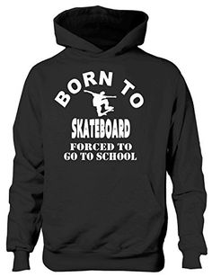 Print4U Born To Skateboard Forced To Go To School Hoodie Age 7-8 Black Double fabric hood . Front pouch pocket. Now produced using Belcoro® yarn for a softer feel and cleaner printing process. Set-in sleeves with twin needle stitching detail (Barcode EAN = 5054120324688) http://www.comparestoreprices.co.uk/december-2016-6/print4u-born-to-skateboard-forced-to-go-to-school-hoodie-age-7-8-black.asp