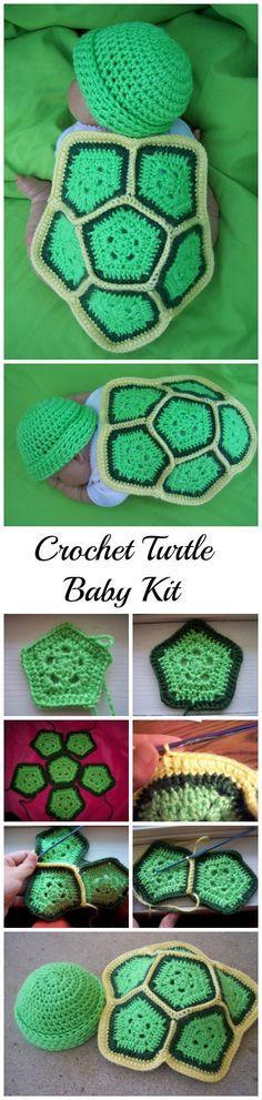 Crochet turtle pattern for baby.
