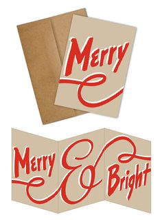 MERRY TRIFOLD BOXED SET by Two Trick Pony | smart green paper goods