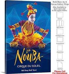 """Cirque du Soleil La Nouba™ 2007 Performance Show-3 Canvas Wrap 20"""" x 30"""""""