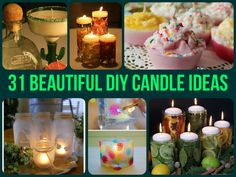 31 Beautiful DIY Candle Ideas
