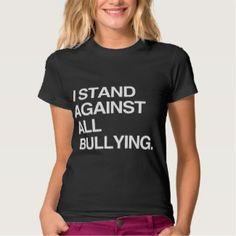 I Stand Against All Bullying. – Motivational Anti-bullying Women's T-Shirt Black