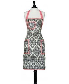 love a pretty full-length apron -this style but in blues would be wonderful
