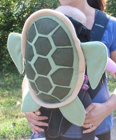 Sea Turtle Shell Baby Carrier Accessory Bjorn Cover with Huge Storage Pocket. $69.00, via Etsy.